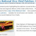 Lodge of the National Vice Chief Patches