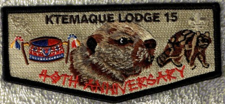 Ktemaque Lodge #15 40th Anniversary Flap S56