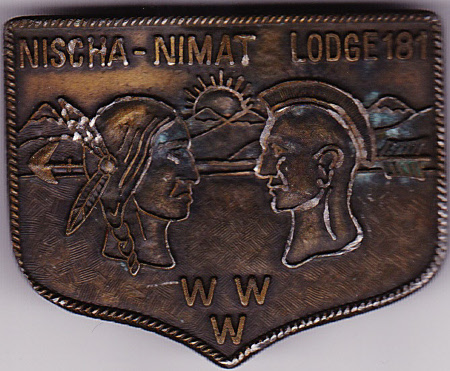 Nischa Nimat Lodge #181 Belt Buckle