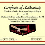 Ranachqua Lodge #4 Numbered Death Flap F8