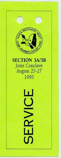 NE-3A 3B 1995 Joint Conclave Service Pass