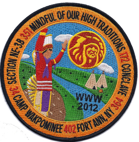 Section NE-3B 2012 Conclave Jacket Patch