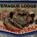 Ktemaque Lodge #15 40th Anniversary Blue Border Flap S58