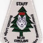 Buckskin Lodge #412 2012 NE-2B Conclave Host Staff X32