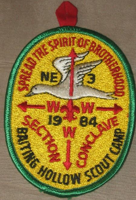 Section NE-3A 1984 Conclave Pocket Patch
