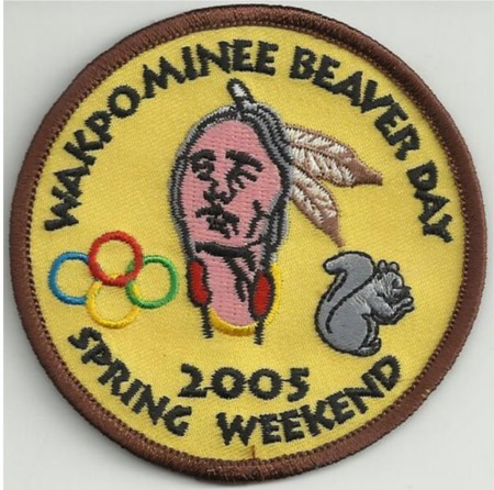 Haudenosaunee Lodge #19	Wakpominee Chapter eR2005-1 Spring Beaver Day