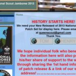 Collecting the 2013 National Scout Jamboree