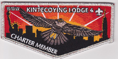 Kintecoying Lodge #4 Charter Member & First Flap S1
