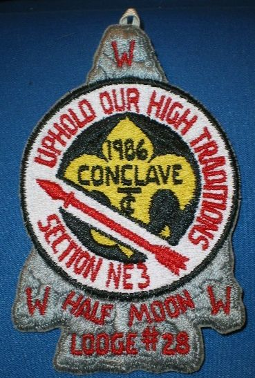 1986 NE-3A Section Conclave Pocket Patch