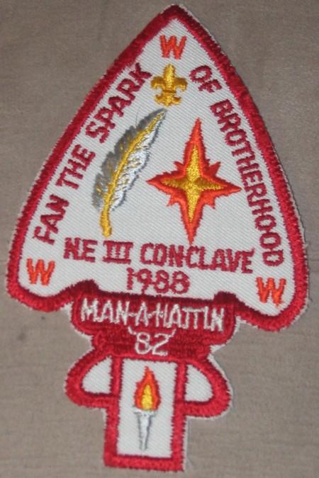 Section NE-3 1988 Conclave Pocket Patch
