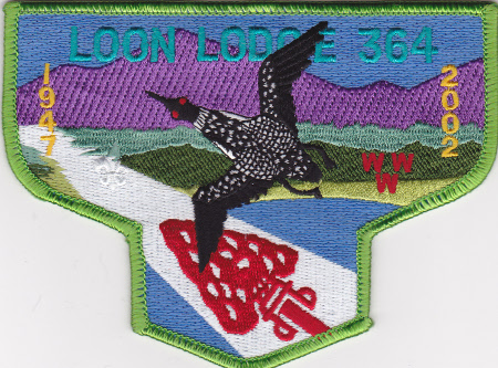 Loon Lodge S16 1947-2002 55th Anniversary Flap