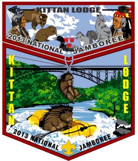 Kittan Lodge #364 2013 Jamboree Set Artists Rendition