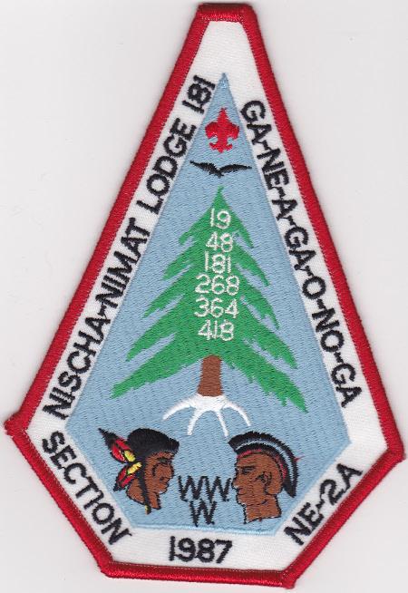 Section NE-2A 1987 Conclave Jacket Patch