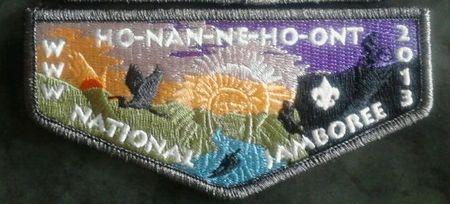 Ho-Nan-Ne-Ho-Ont Lodge #165  2013 Jamboree Delegate Flap S38