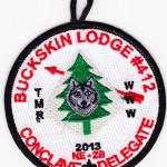 Buckskin Lodge #412 2013 NE-2B Conclave Delegate R22