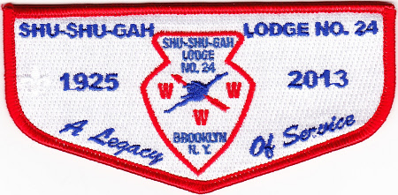 Kintecoying Lodge #4 HS2 & Shu Shu Gah Lodge HS1 A Legacy of Service Flap