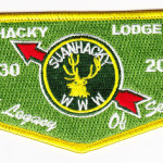 Kintecoying Lodge #4 HS3 & Suanhacky Lodge #49 HS1 A Legacy of Service Flap