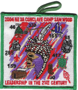 Section NE-3A 2004 Conclave Green Border Pocket Patch