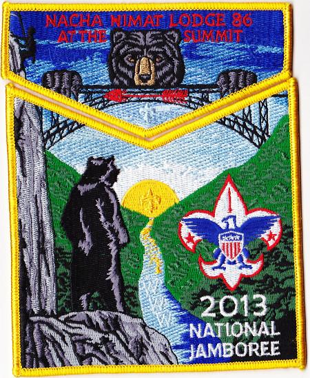 Nacha Nimat Lodge #86 2013 National Jamboree Delegate Set S51 X33