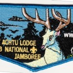 Tschipey Achtu Lodge #95 2013 National Jamboree Contingent Flap Glow in the Dark Deer S13