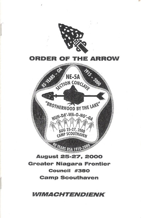 Section NE-5A 2000 Conclave Booklet