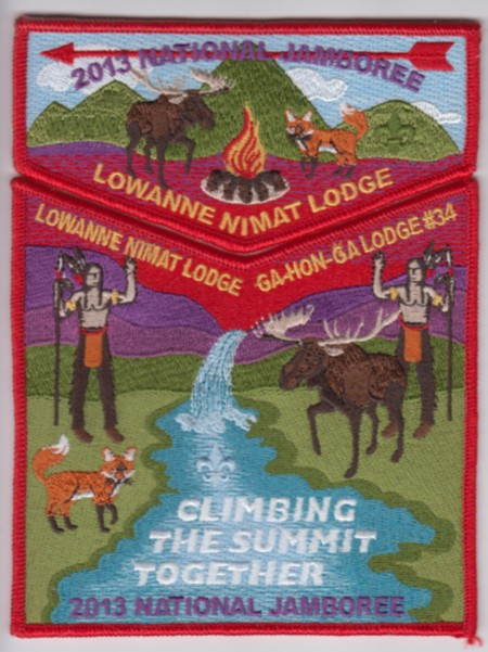 Lowanne Nimat Lodge #219 2013 Jamboree Contingent Set S11 X4