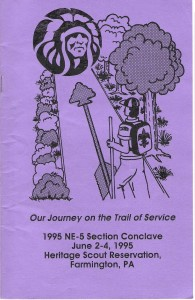 1995 Section NE-5 Conclave Pamphlet