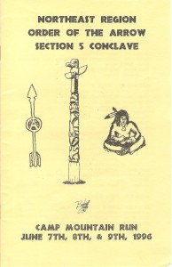 1996 Section NE-5 Conclave Pamphlet