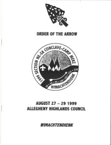 Section NE-5A 1999 Conclave Booklet