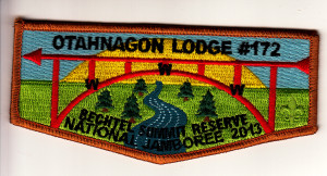 Otahnagon Lodge #172 2013 Jamboree Flap S28