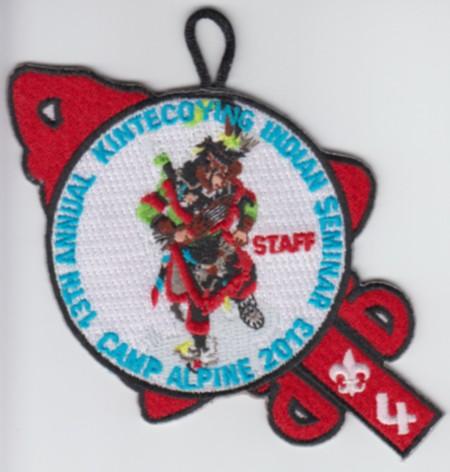 Kintecoying Lodge #4 2013 Indian Seminar Staff Pocket Patch eA2013-3