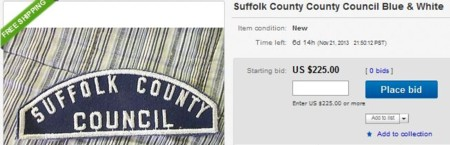 Suffolk County County Council Blue White