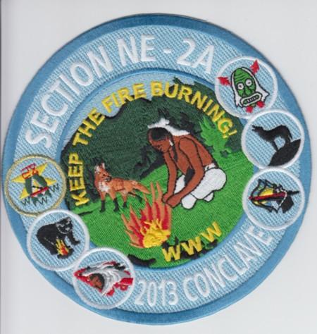 Section NE-2A 2013 Conclave Jacket Patch
