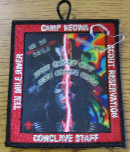 Section NE-2B 2013 Conclave Staff Pocket Patch