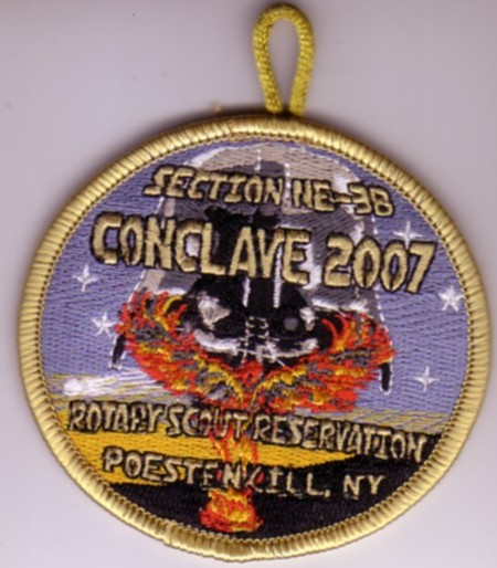 Section NE-3B 2007 Conclave Gold Pocket Patch
