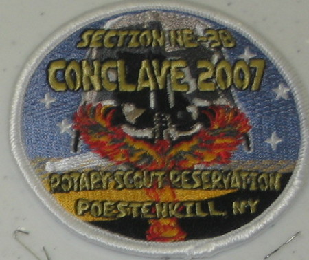Section NE-3B 2007 Conclave White Pocket Patch