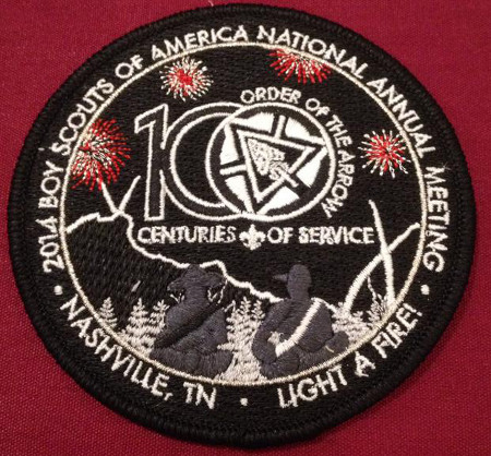 100th Anniversary of the Order of the Arrow National Meeting Patch