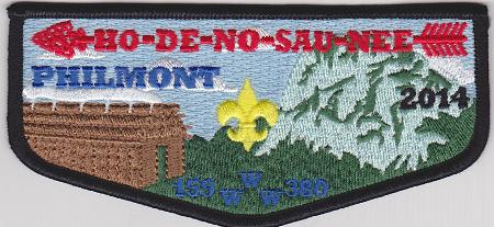 Ho De No Sau Nee Lodge #159 2014 Black Bordered Philmont Flap S55