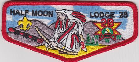 Half Moon Lodge #28 Error Issue Flap S45