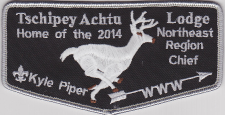 Tschipey Achtu Lodge #95 2014 Home of the Northeast Region Chief - Kyle Piper F3a TR