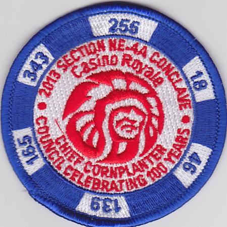 Section NE-4A 2013 Conclave Blue Pocket Patch