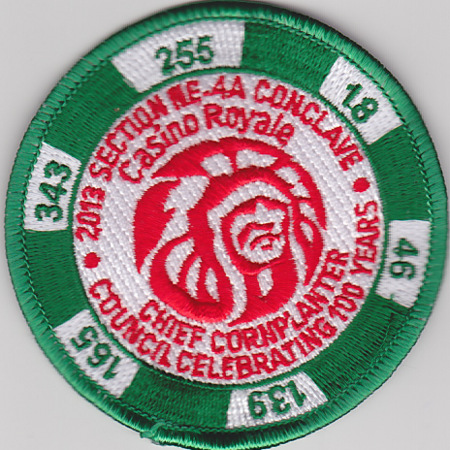 Section NE-4A 2013 Conclave Green Pocket Patch