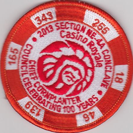 Section NE-4A 2013 Conclave Orange Pocket Patch