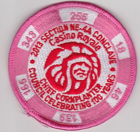 Section NE-4A 2013 Conclave Pink Pocket Patch