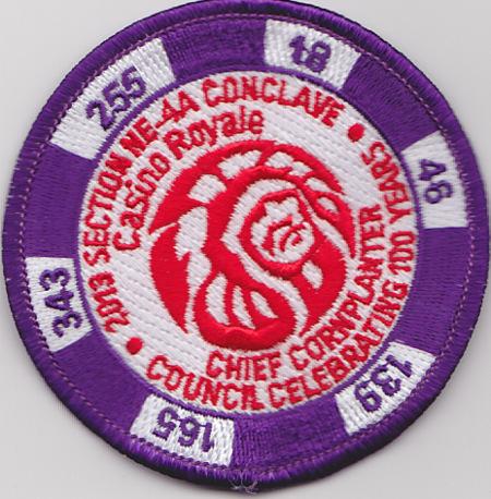 Section NE-4A 2013 Conclave Purple Pocket Patch