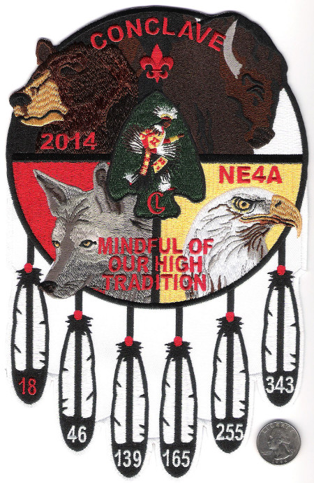 Section NE-4A 2014 Conclave Jacket Patch