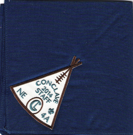 Section NE-4A 2014 Conclave Staff Neckerchief
