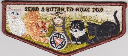 "Kittan Lodge #364 ""Send a Kittan to NOAC 2015'' Fundraiser Flap S32"