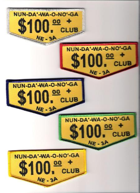 Section NE-3A $100 Club Flap Set