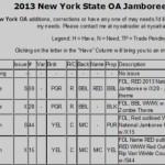 New York State OA 2013 Jamboree Checklist